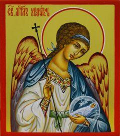 Рукописная икона Ангел Хранитель с Душой 2