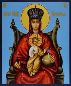 Рукописная икона Державная (Размер 17*21 см)