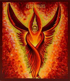 Рукописная икона Серафим