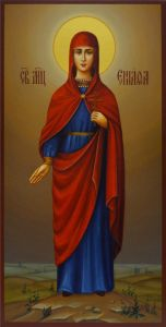 Рукописная икона Еннафа мученица