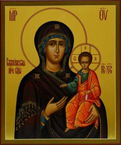 Рукописная икона Влахернская Божия Матерь