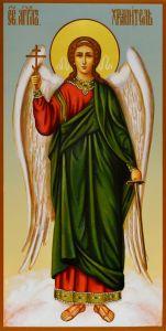 Рукописная икона Ангел Хранитель 3