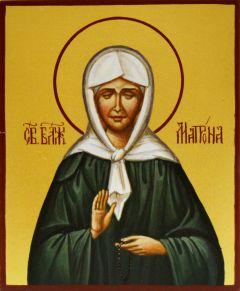 Рукописная икона Матрона Московская 4