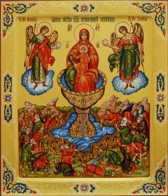 Рукописная икона Живоносный Источник 2