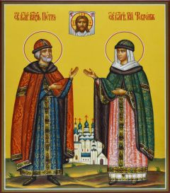Рукописная икона Петр и Феврония Муромские 41