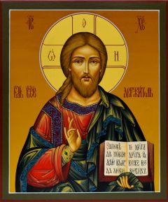 Рукописная икона Спас Вседержитель