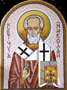 Икона из мозаики Святитель Николай Чудотворец