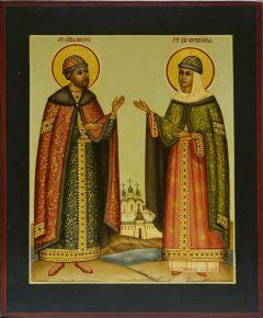 Рукописная икона Петра и Февронии 19