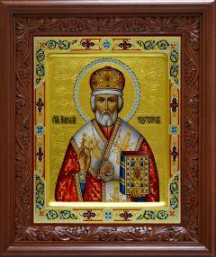 Рукописная икона Святитель Николай Чудотворец 6