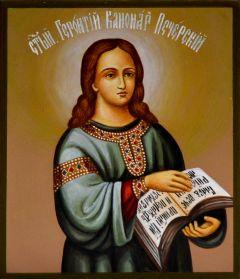 Рукописная икона Геронтий Канонарх Печерский