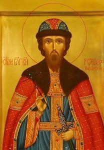 Рукописная икона Роман князь Рязанский