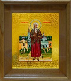 Рукописная икона Ксения Петербургская 2 (Размер 20*24 см)