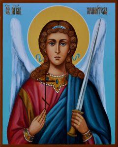 Рукописная икона Ангел Хранитель 5