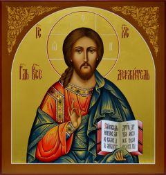 Рукописная икона Спас Вседержитель 7