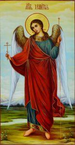 Рукописная икона Ангел Хранитель масло 8