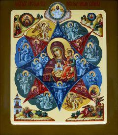 Рукописная икона Неопалимая Купина 4