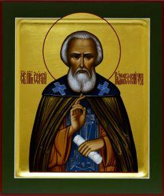 Рукописная икона преподобный Сергий Радонежский 4