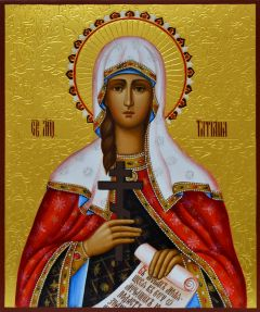 Рукописная икона Татиана Римская 3