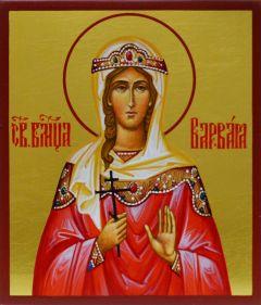 Рукописная икона Варвара Илиопольская 3