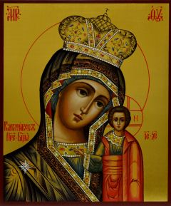 Рукописная икона Каплуновская