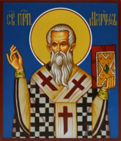 Рукописная икона Маруф