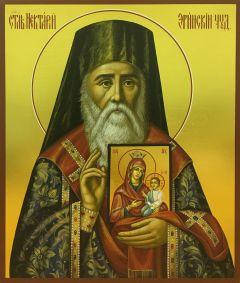 Рукописная икона Нектарий Эгинский 2