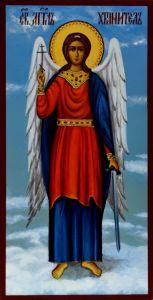 Рукописная икона Ангел Хранитель 11