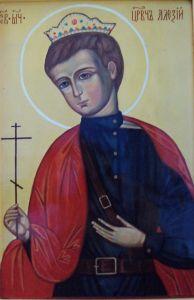 Рукописная икона Святой Алексий Цесаревич