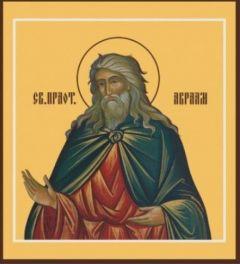 Рукописная икона Авраам