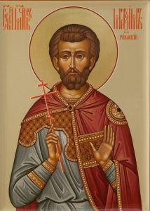 Рукописная икона Максим Римский