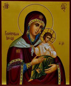 Рукописная икона Коневская 2