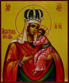 Рукописная икона Межетская