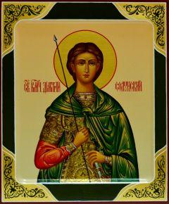 Рукописная икона Дмитрий (Димитрий) Солунский 3 (Размер 17*21 см)