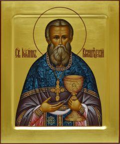 Рукописная икона Иоанн Кронштадский 2 (Размер 21*25 см)