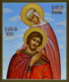 Рукописная икона Петр и Феврония 51