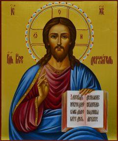 Рукописная икона Спас Вседержитель 10