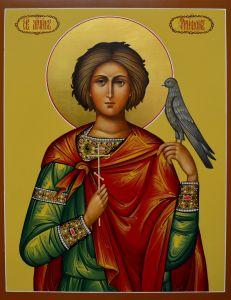 Рукописная икона мученик Трифон 3
