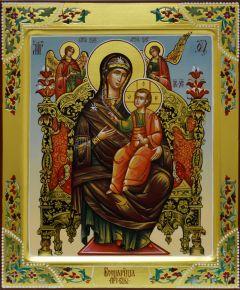 Рукописная икона Всецарица 5