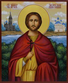 Рукописная икона Анатолий Никейский 2
