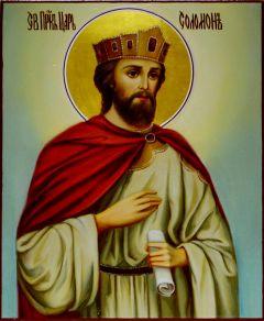 Рукописная икона Соломон масло
