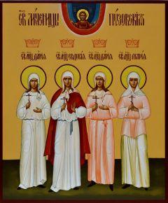 Рукописная икона мученицы Пузовские
