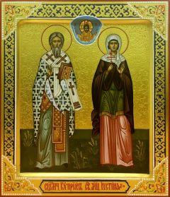 Рукописная икона Киприан и Иустина 2