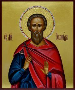 Рукописная икона Леонид Коринфский