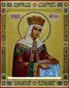 Рукописная икона царица Елена 5