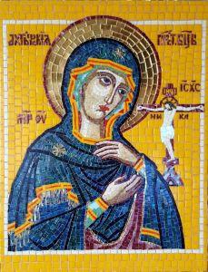 Икона из мозаики Ахтырская