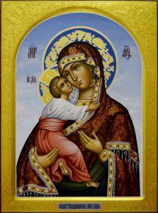 Рукописная Владимирская икона Пресвятой Богородицы 3