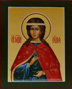 Рукописная икона Иулия Карфагенская 2 (Размер 13*16 см)