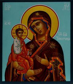 Рукописная икона Троеручица 5