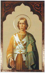 Рукописная икона Святой Анастасий Диакон