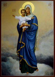 Рукописная икона Благодатное Небо 2